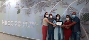 HRCC recebe homenagem de reconhecimento